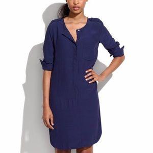 Madewell Cargo Tunic Dress Blue